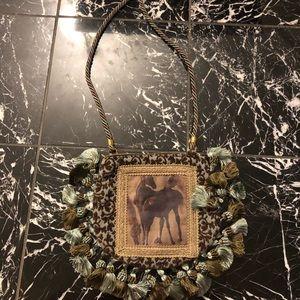 Handbags - NWOT Horse Portrait Tassel Purse w/ Shoulder Strap
